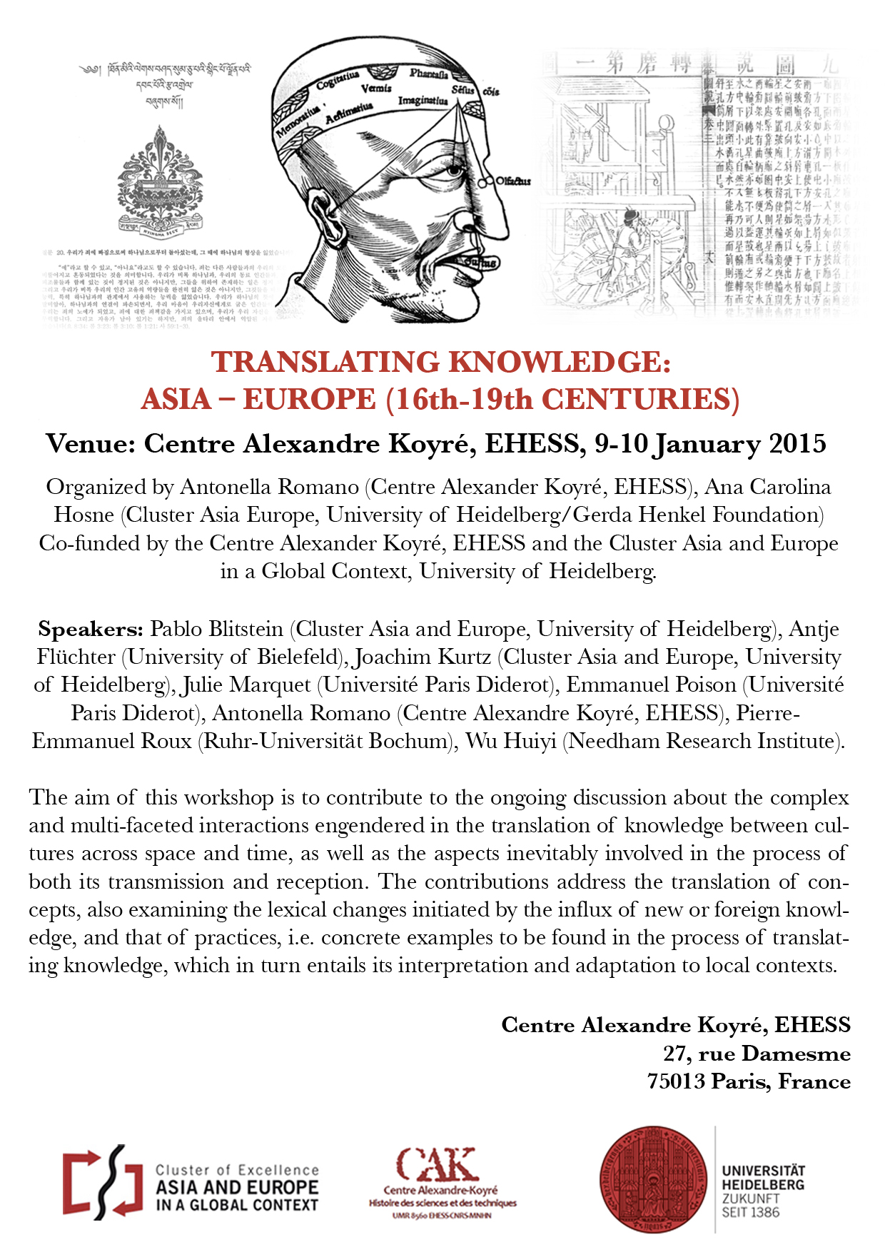 Journée d'étude : Translating knowledge: Asia-Europe (16-19th centuries)