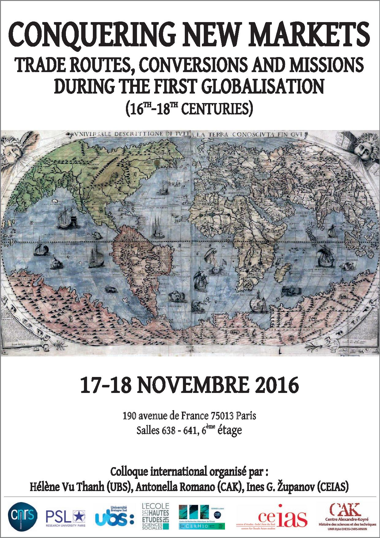 Conquering new markets. Trade routes, conversions and missions during the first globalisation (17th-18th centuries)