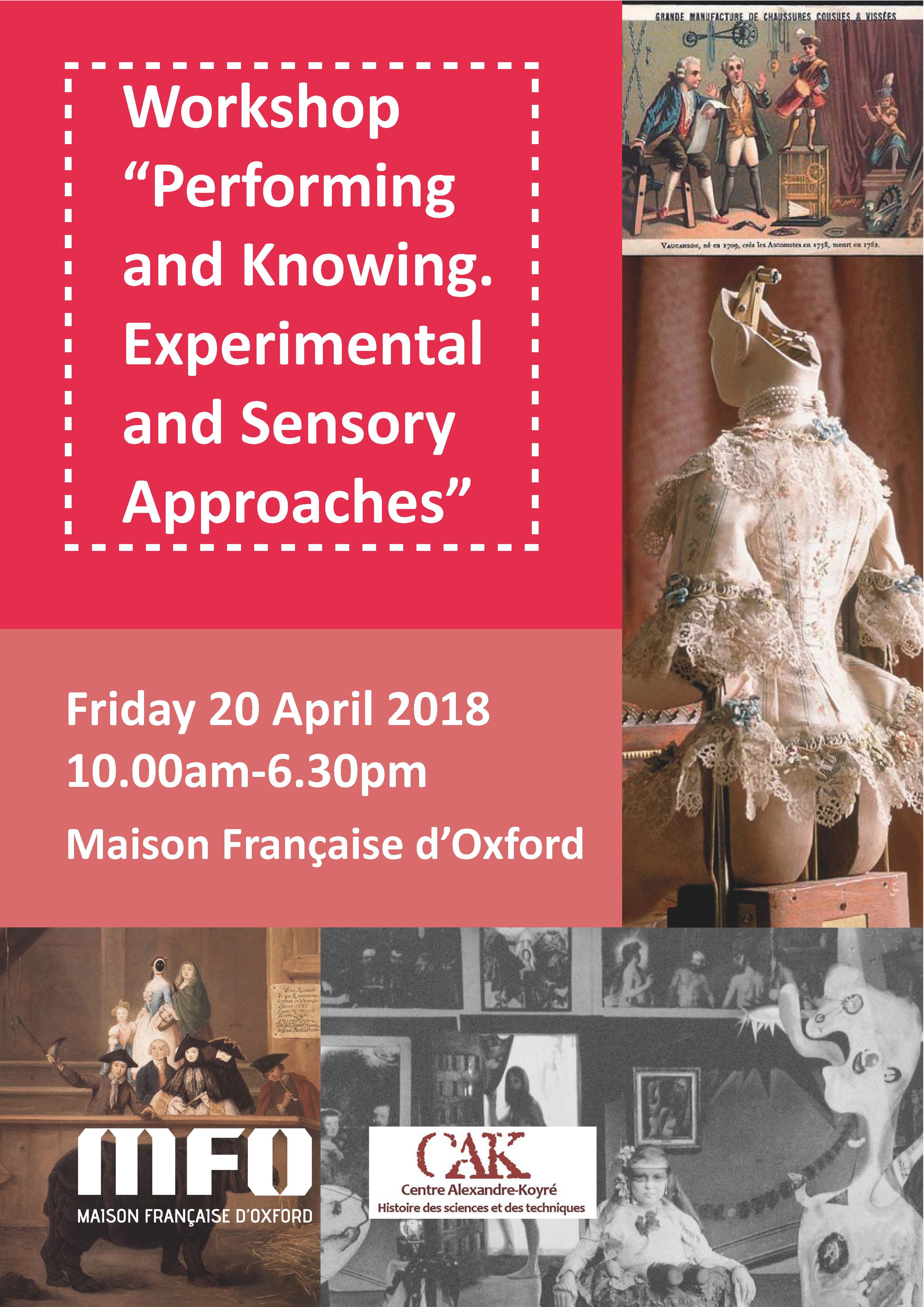 Workshop - Performing and knowing. Experimental and sensory approaches