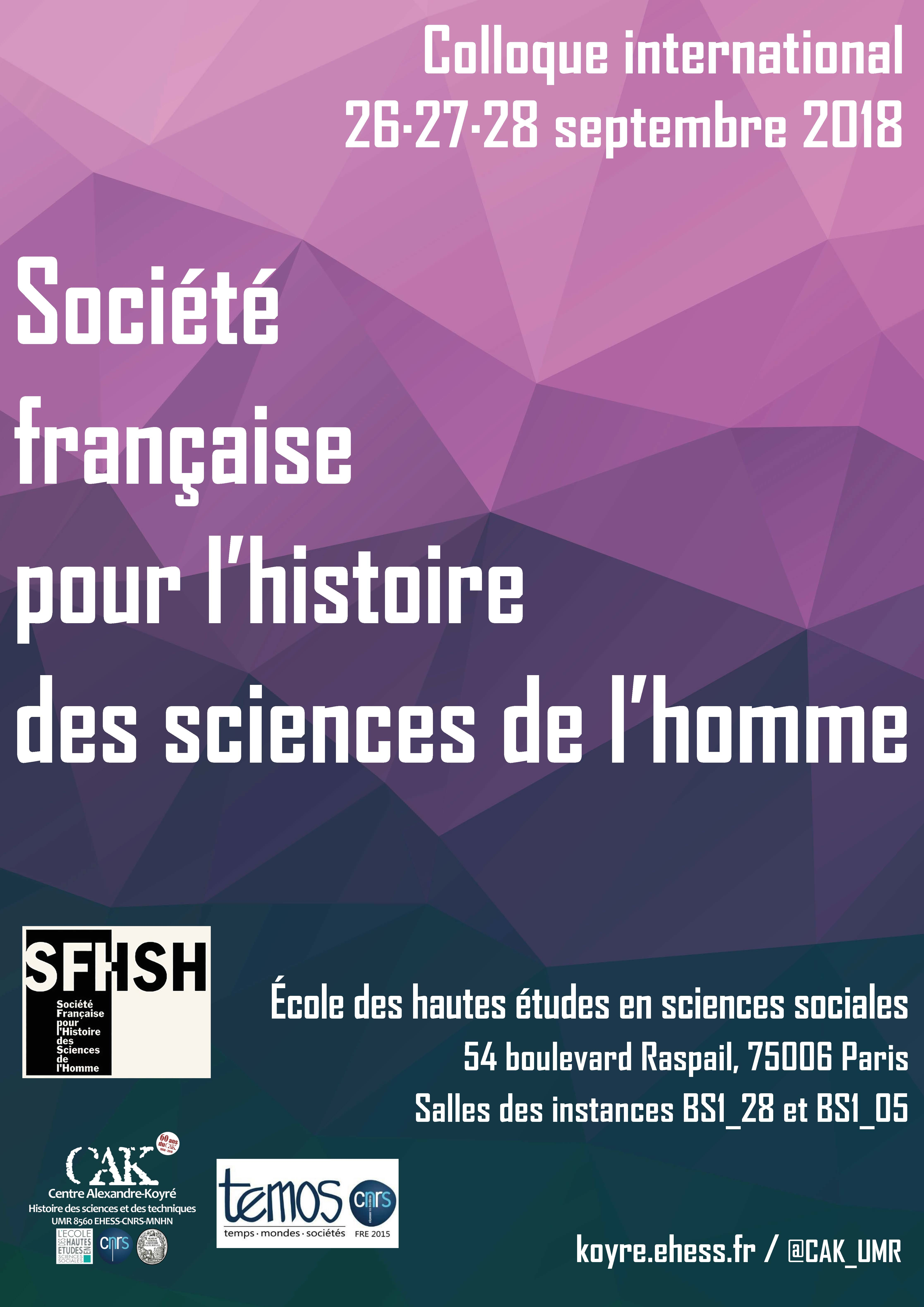 Affiche colloque SFHSH