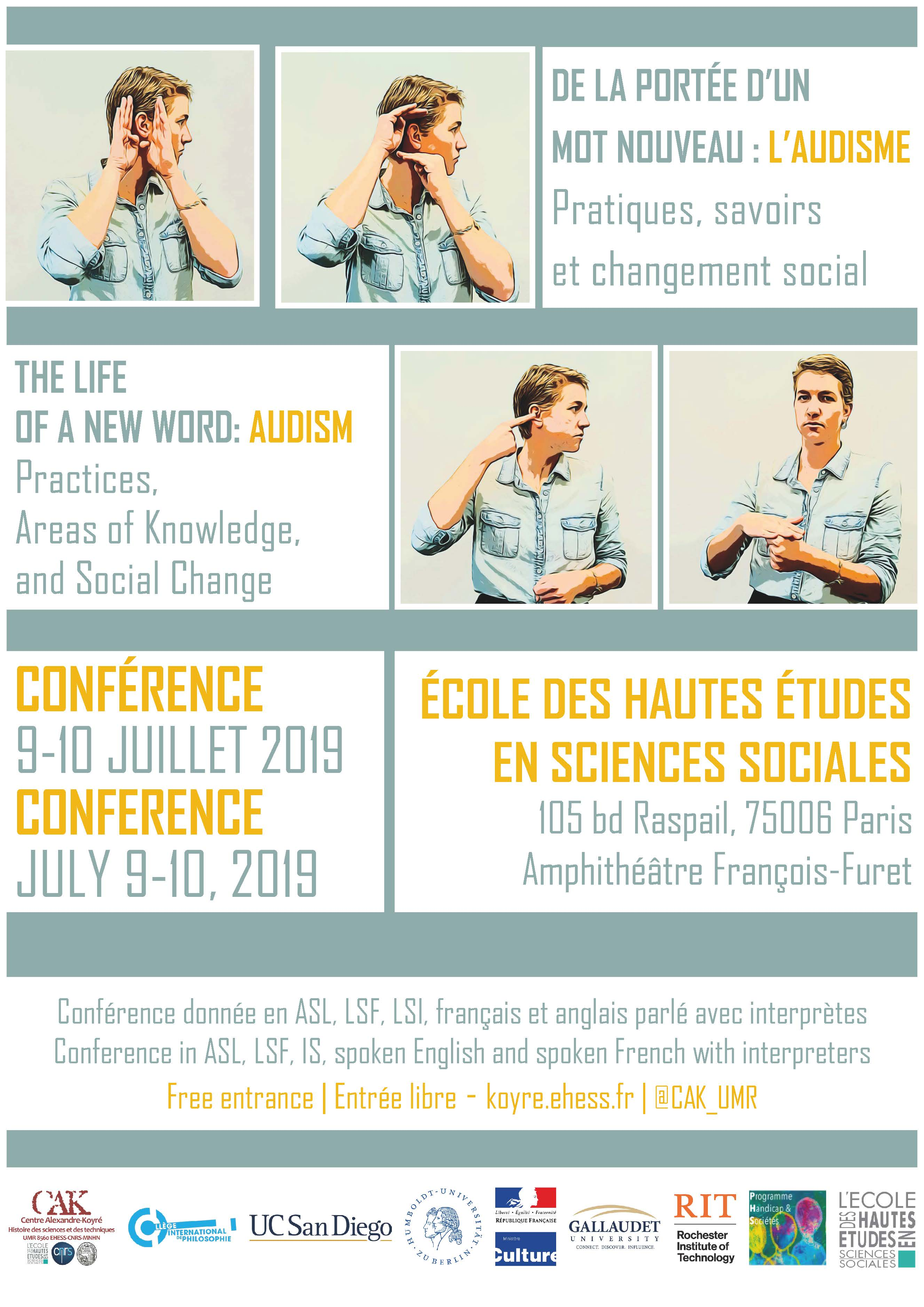 Conférence - De la portée d'un mot nouveau : l'audisme. Pratiques, savoirs et changement social / The life of a new word: Audism. Practices, areas of knowledge, and social change