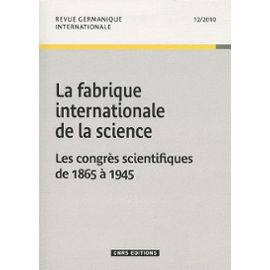 La fabrique internationale de la science